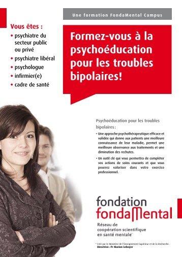 Brochure de présentation de la formation - Fondation FondaMental