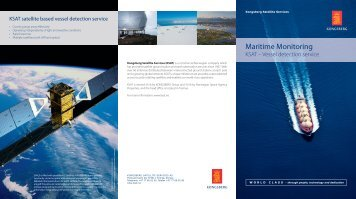 Maritime Monitoring - Kongsberg Satellite Services