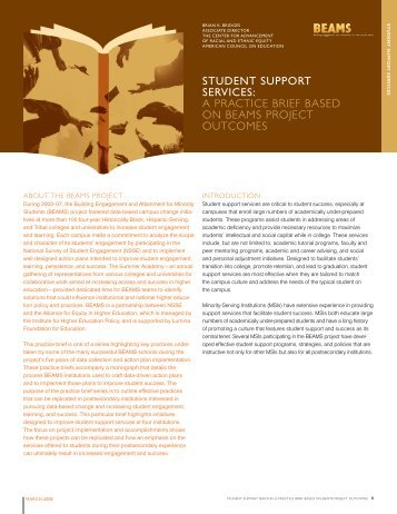 student support services - Institute for Higher Education Policy