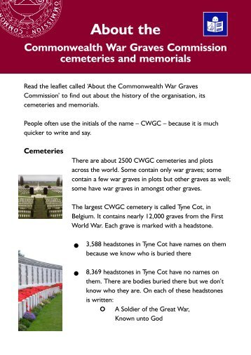 Cemeteries - Commonwealth War Graves Commission