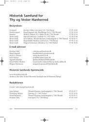 Historisk Samfund for Thy og Vester Hanherred - Thisted Museum