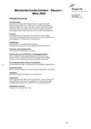 Mandantenrundschreiben Steuern März 2004 - wengert-gruppe.de