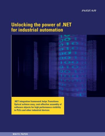 Unlocking the power of .NET for industrial ... - Automation.com