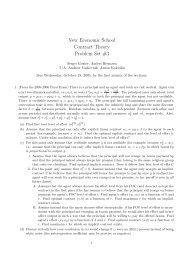 New Economic School Contract Theory Problem Set #3