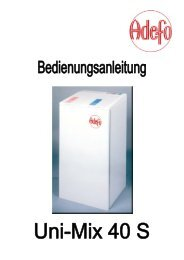 (pdf-file 949 KB) / Unimix-40S (Bedienungsanleitung)