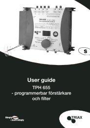 User guide - Triax