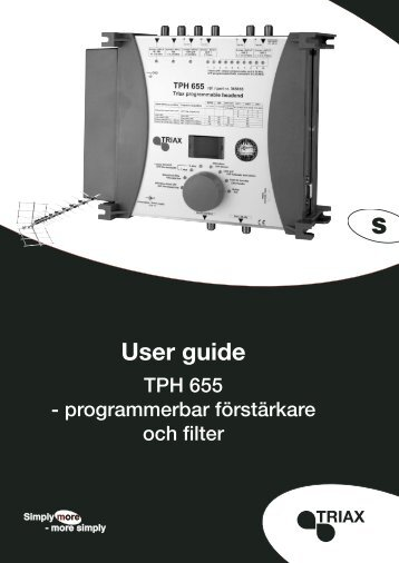 User guide - Triax