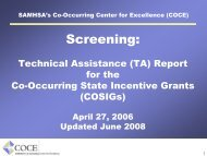 (A) Co-Occurring Disorders - Homelessness Resource Center ...