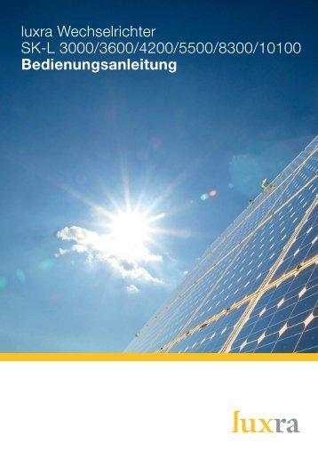 Montage- und Bedienungsanleitung Solar ... - SOLARKAUF