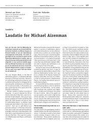 Laudatio for Michael Aizenman - Nieuw Archief voor Wiskunde