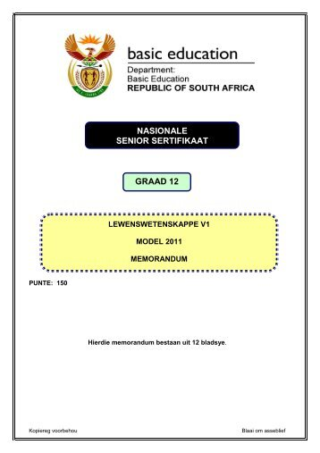 NASIONALE SENIOR SERTIFIKAAT GRAAD 12 - Eccurriculum.co.za