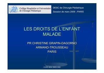 LES DROITS DE L'ENFANT MALADE - SOFOP