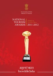 NATIONAL TOURISM AWARDS 2011-2012 - Ministry of Tourism