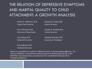 the relation of depressive symptoms and marital quality to child ...