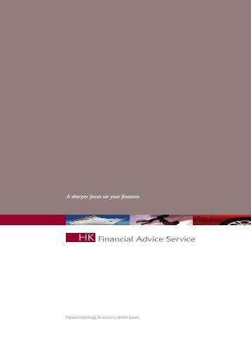 HK Financial Advice Service Brochure