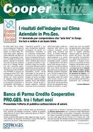 I risultati dell'indagine sul Clima Aziendale in Pro.Ges. Banca di ...