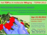 TOPIM 2012 PROCESSING BIOMEDICAL IMAGES Apr.15 ... - Encite