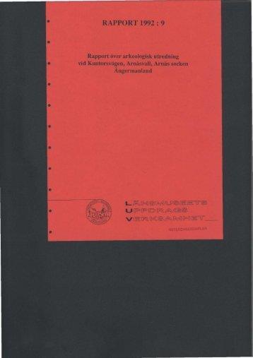 RAPPORT 1992 : 9 - Bild.ylm.se - Murberget