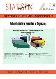 Schwerbehinderte Menschen in Regensburg (05/98) - Statistik ...