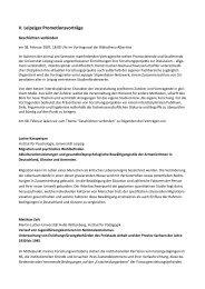 5. Promotionsvorträge - Universität Leipzig