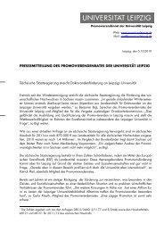 05.10.2010 - Der PromovierendenRat - Universität Leipzig