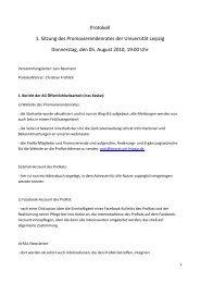05. August 2010 - Der PromovierendenRat - Universität Leipzig