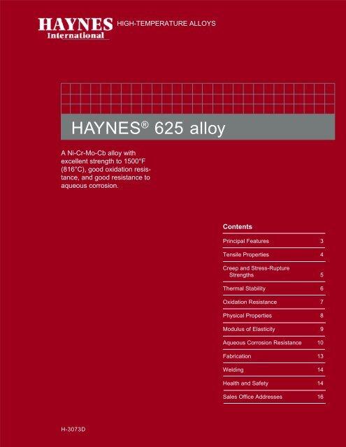 haynes 625