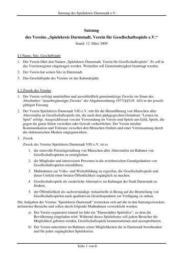 Satzung - Spielekreis Darmstadt eV