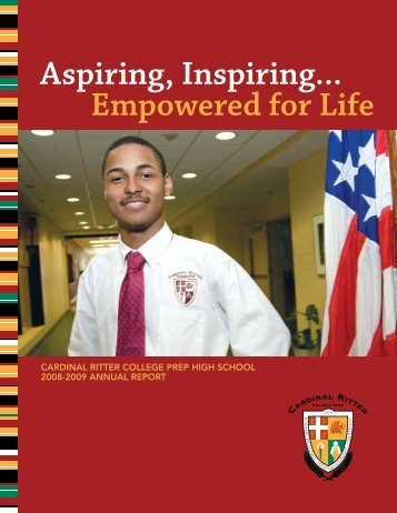 2008-2009 Annual Report - Cardinal Ritter College Preparatory ...