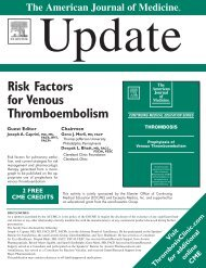 Risk Factors for Venous Thromboembolism
