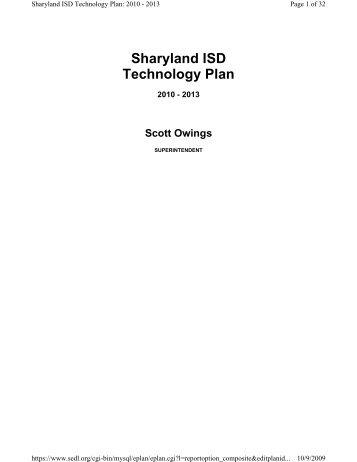 Sharyland ISD Technology Plan