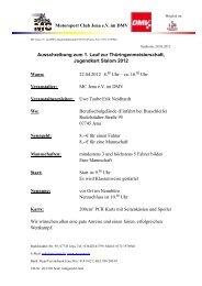 Motorsport Club Jena e.V. im DMV Ausschreibung  zum 1. Lauf zur ...