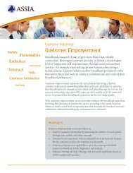 Expresse Solutions Customer Empowerment Brief - ASSIA Inc.
