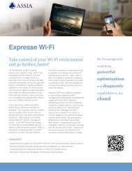 Expresse Wi-Fi Product Brief - ASSIA Inc.