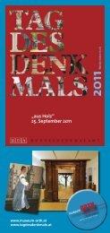 Download Programm Tag des Denkmals –Schloss Orth als PDF