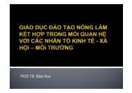 PGS.TS. Bảo Huy - Chương trình Hỗ trợ Lâm nghiệp