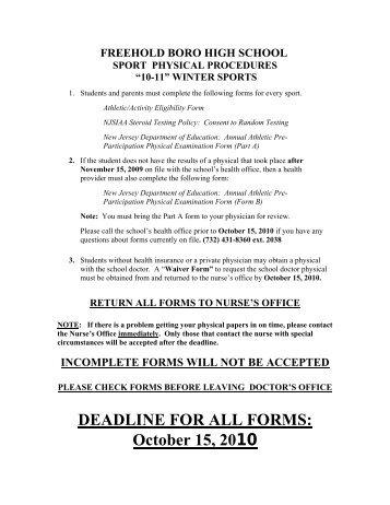 Sports Physical Form (English PDF) - Pendleton High School