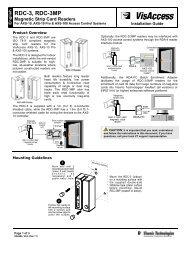 RDC, RDC-3MP Install Guide - Visonic Technologies