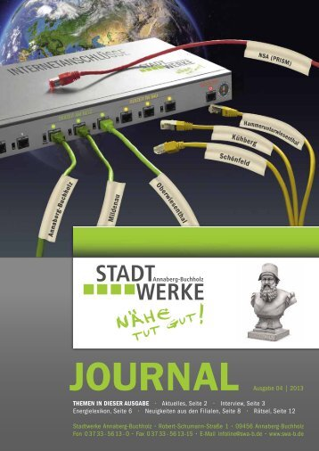 Ausgabe 04/2013 - Stadtwerke Annaberg-Buchholz
