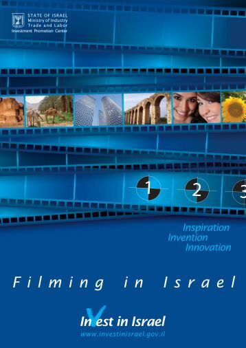 Film in Israel Brochure.indd - Invest in Israel