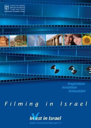 Film in Israel Brochure.indd - Invest in Israel