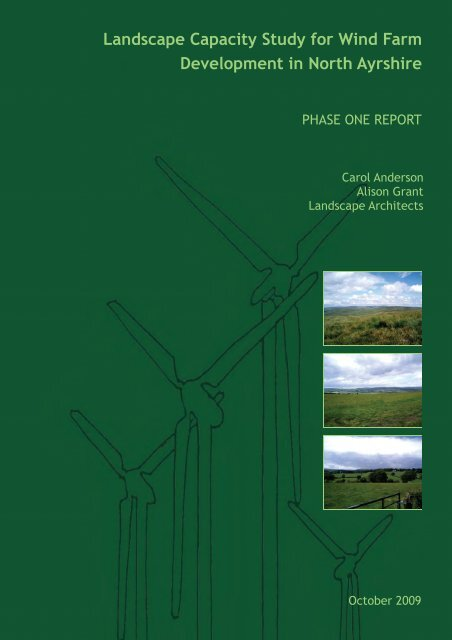 Landscape Capacity Study for Wind Farm ... - North Ayrshire Council