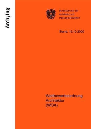 Wettbewerbsordnung Architektur (WOA)