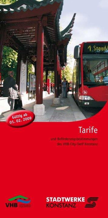 Tarife - Stadtwerke Konstanz