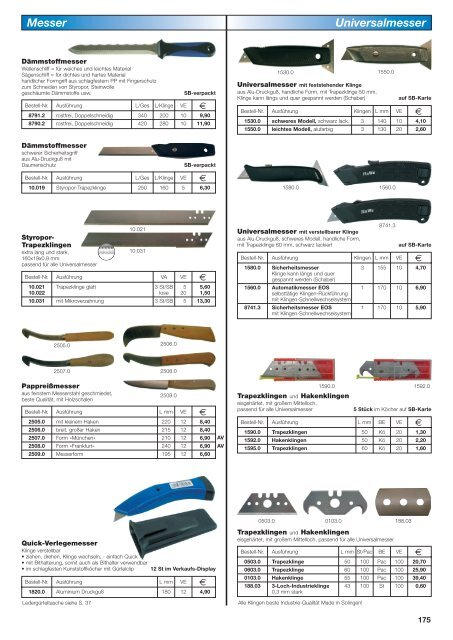 Cuttermesser  30 Stück Cuttermesser  18mm für Autolack Folien usw.