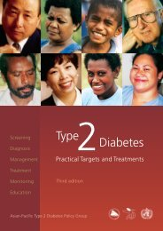 Type Diabetes - WHO Western Pacific Region - World Health ...