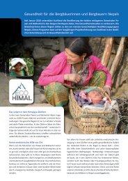 Gesundheit für die Bergbäuerinnen und Bergbauern ... - Ecohimal