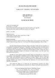 Télécharger la fiche PDF - Galerie Jean-François HEIM Paris