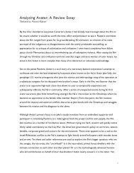 Analyzing Avatar: A Review Essay - Jesus Radicals