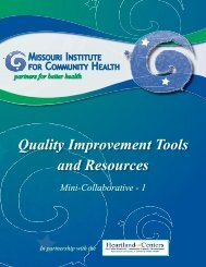 Quality Improvement Tools and Resources - National Network of ...